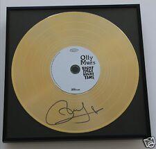 Olly Murs CD + Deko goldene Schallplatte + Autogramm / Autograph in Person