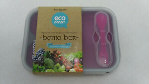 Bento Box Eco One Collapsible Silicone Food Container - NEW & BPA Free