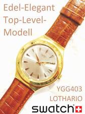 Top-Gold-Level SWATCH IRONY BIG YGG403 LOTHARIO GAMES EdelStahl WATCH Klassiker