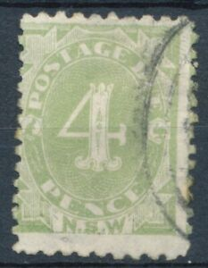4d Postage Due - New South Wales - Used Hinged