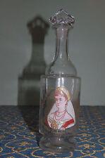 Mont-Joye-Legras-Art-Nouveau-Hand painted jug carafe Imperatrice Feodorovna 1896