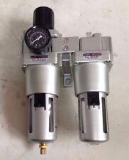 """Filtro Regulador Spray 3/4"""" Compresor de aire FM50-06-W Con Lubricador FM-50-06-L"""