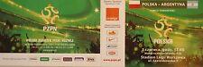mint TICKET 5.6.2011 Polska Polen - Argentinien Argentina
