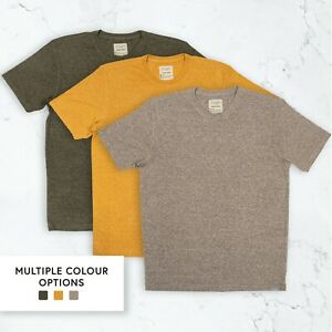 Men's Natural Hemp T-shirt Oatmeal Heather Toffee Climbing Ivy Heather S M L