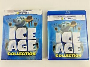 Ice Age Blu-ray Collection 5 Movies Meltdown Continental Collision 📀 No Digital