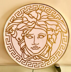 CUSTOM MADE VERSACE MEDUSA SIGNATURE GOLD WHITE COMBINATION STORE DISPLAY SIGN