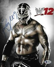Rey Mysterio Signed 8x10 Photo BAS Beckett COA WWE Wrestling Picture Autograph 2