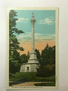 Postcard KY Lexington Kentucky Senator Henry Clay Monument c1930s 1940s