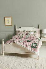 Anthropologie Paule Marrot Camilla King Quilt with 2 Standard Shams