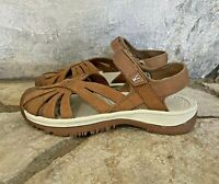 Keen Women's Rose Sport Hiking Water Sandals Sz 6.5 Brown Ankle Strap Shoes