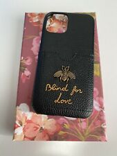 Gucci Case For Iphone 11 Pro Black Leather Cardholder With Bee Blind For Love