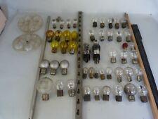 lot 49 ampoules lampe ancienne yvel besnard marchal philips radio 12v 3,8v 24v
