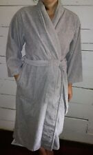 Victoria's Secret Grey Terry Cloth Bath Robe XS S with Pockets and Belt