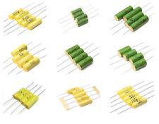 Vishay MKT-1813 film foil capacitors axial polyester 220nF-15uF, 63V-1000V ROE
