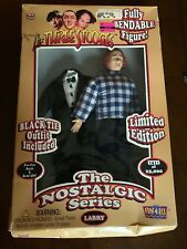 Three 3 Stooges Nostalgic Series Larry Bendable Doll W/ Black Tie Outfit.