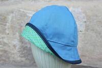 *NEU* Sonnenhut / Wendehut für Kinder Grün/Blau aus Baumwolle Mütze *Wunschgröße