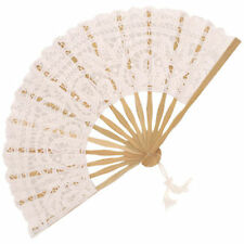White Fans and Parasols for Weddings