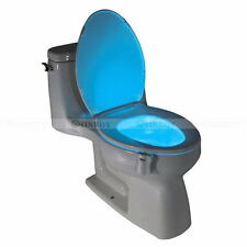 LED Motion Sensor Night Lamp Toilet Bowl Bathroom Body Sensing Automatic Light