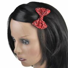 Accessoires de coiffure barrettes rouges en tissu pour femme