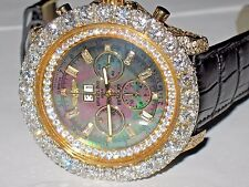 Mens Breitling Bentley 6.75 18K Solid Gold Diamonds Everywhere