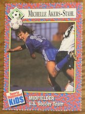 MICHELLE AKERS-STAHL, RARE 1991 SPORTS ILLUSTRATED FOR KIDS CARD, SOCCER STAR !