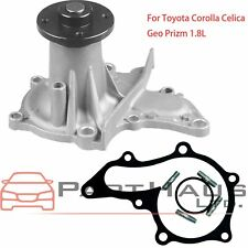 FIT Toyota Corolla Celica Geo Prizm 1.8L Engine Water Pump W/ Gasket