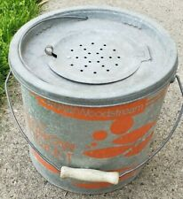 VINTAGE OLD PAL WOODSTREAM MINNOW BUCKET BAIT STREAM CAMP CABIN OUTDOOR DECOR