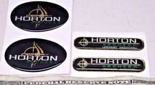 NEW LOT OF 4 (2 OF EACH) HORTON ARCHERY CROSSBOW BOW STICKER DECAL LABEL LEGEND