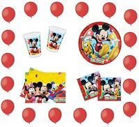 SET 121pcs PARTY MICKEY MOUSE DISNEY BIRTHDAY CUMPLEANOS GEBURTSTAG COMPLEANNO