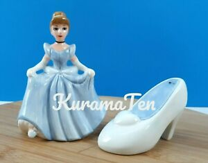 Disney Cinderella & Her Slipper Salt & Pepper Shaker Porcelain