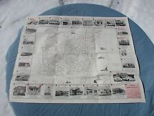 Vintage 50's Point Pleasent Bayhead New Jersey Map Street Guide Advertising