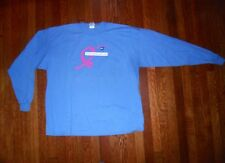 "GILDAN ""HOPE STARTS WITH ME...AGAINST BREAST CANCER L/S CREW NECK T SHIRT 2XL"