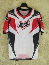 Maillot cycliste FOX blanc shirt trikot zip intégral maglia camiseta trikot L