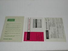 GRUNDIG RECORD-BOY LW 207 + REPARATURHELFER + ORIG. Papiertasche!!  Sehr Rare!