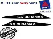 6.6 DURAMAX Decal Sicker For Nissan GU Patrol 99-07 2 FIN Bonnet Scoop