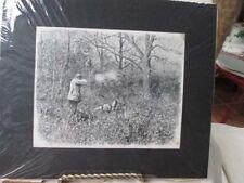 Vintage Print,BIRD HUNTING,A.B.Frost