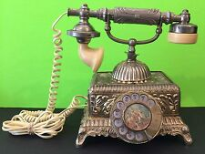 Vintage Antique European Style Rotary Dial Telephone Collectable Works