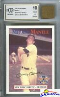 1997 Scoreboard #59 Mickey Mantle w/WORN PANTS BECKETT 10 MINT