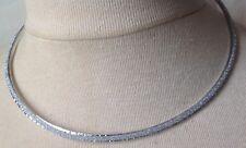 collier tour de coup vintage couleur argent  effet diamanté brillance  A10