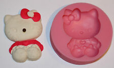 Silikonform Hello Kitty für Marzipan Fondant Tortendeko Seife  Durchmesser 7 cm