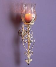 Beautiful Antique VINTAGE Style HURRICANE CANDLE SCONCE, NEW!