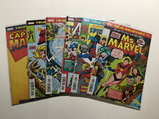 Captain Marvel 1 Ms. Marvel 1 True Believers 6 Issue Lot Run Set Near Mint