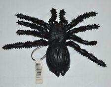 "Black Fake Spider Plastic Tarantula Halloween Decor Prop 8"" W x 6"" L Hanging NEW"