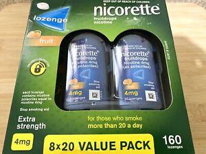 Nicorette Quit Smoking Cooldrops Fresh Fruit Lozenges 4mg 160 Pieces