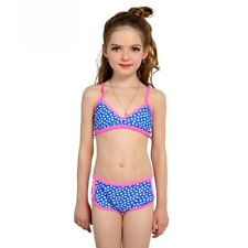 Girl's Sexy Patchwork Bikini Set Floral Wire Free Sport Bathing Swimming Suits
