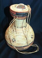 "Hand Woven Basket with Top - 10 1/8"" wide x 13"" tall"