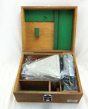 Olympus Polaroid Microscope Camera Film Adapter; in wooden box