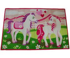 Kinderteppich Teppich Spielteppich Girl 07 White Horses rosa Pferde 80 X 120 Cm