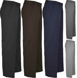 Mens Office Trouser Adults Business Work Formal Casual Smart Fit Trouser Pants