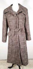 Tweed Look  brown Sparkle Long Coat By George Size 14